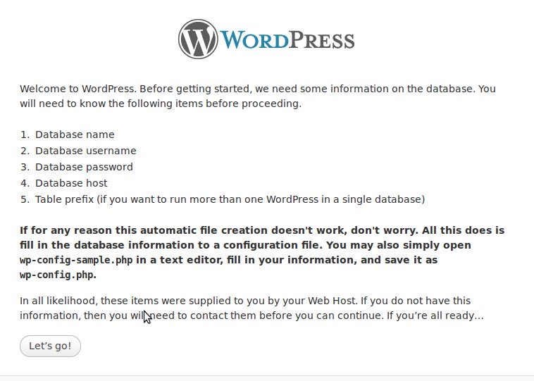 Install wordpress manually