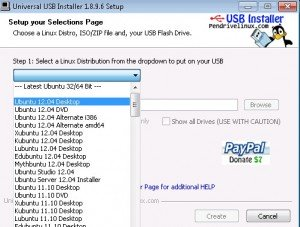 Install ubuntu from usb Step 1
