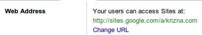 Google apps sites services