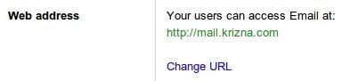 Setup google apps email