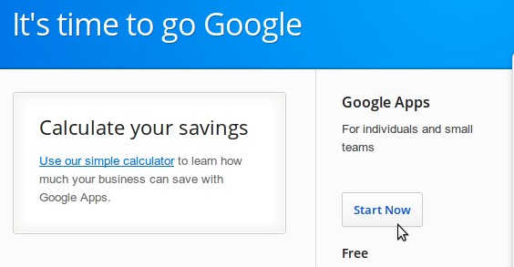 setup google apps for your domain