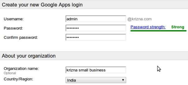 setup google apps your own domain