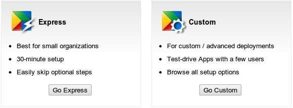 setup google apps own domain