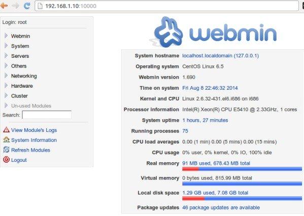 How to install webmin on centos 6