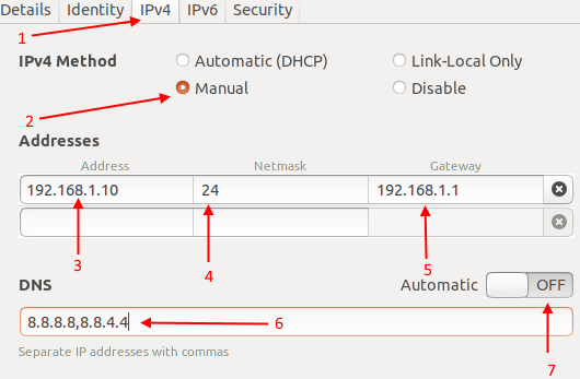 Setup network ubuntu