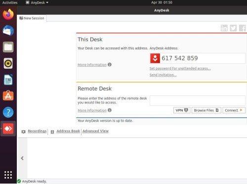 Anydesk ubuntu 20.04