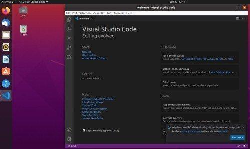Install Visual studio code ubuntu 20.04